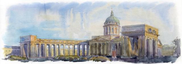 001. Казанский собор на Невском проспекте в Санкт-Петербурге