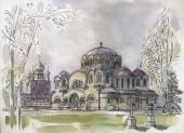 002. Казанская церковь Новодевичьего монастыря в Санкт-Петербурге