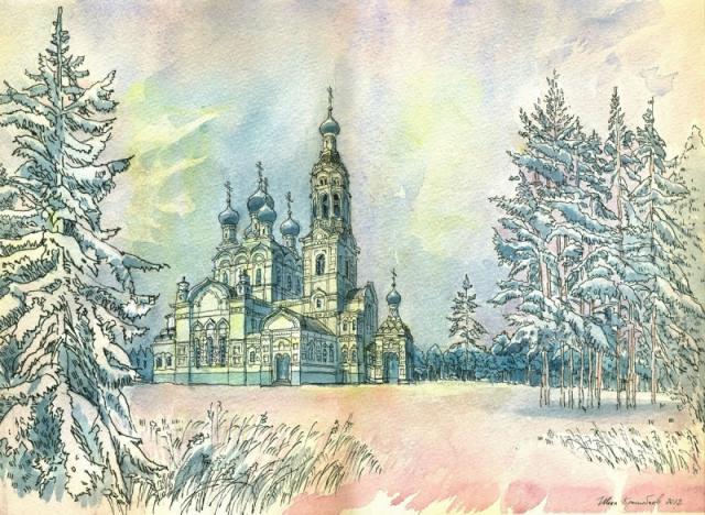 004. Казанская церковь в городе Зеленогорск (Териоки) Ленинградской области
