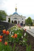 Вид на Казанский храм в Оптине