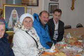 012. После службы все были приглашены на чай в колокольню