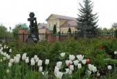 Уголок оптинского монастыря на заднем дворе