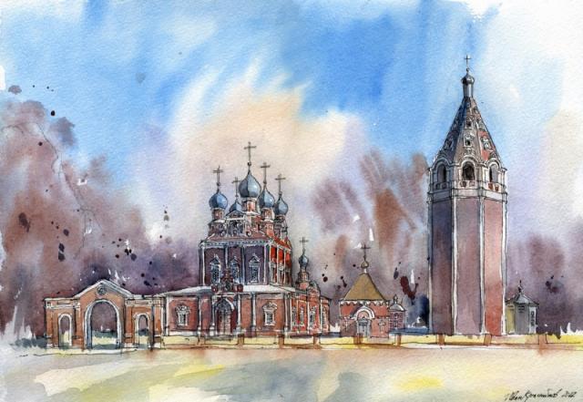018. Казанская церковь в г. Устюжна, Вологодская область