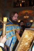 025. Читает Евангелие отец Виталий, настоятель храма Илии Пророка в Лесном