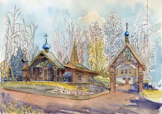 027. Казанская церковь в Си-Клифе, Нью-Йорк, США