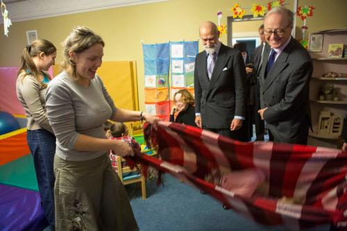030. В завершении визита принц Майкл посетил действующий в обители детский сад для детей-инвалидов