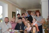 С батюшкой Леонтием Никифоровым - настоятелем Преображенского храма в Прысках