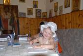 043. Детские загогулины на записочках заботливо приняты в монастыре. Детская молитва быстро доходит к Богу!