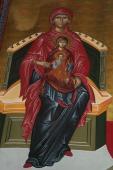 102. Редкая икона праведной Анны - у нее на руках Пресвятая Богородица с Богомладенцем на коленях
