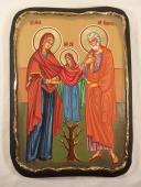 029. Богоотец Иоаким и Анна с пресвятой Богородицей.