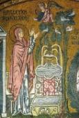 001. Благовещение святой Анне. 1100 г. Монастырь Успения Богородицы. Дафни