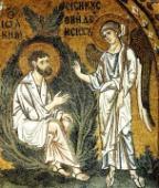 002. Благовещение святому Иоакиму. 1100 г. Монастырь Успения Богородицы. Дафни