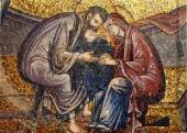 013. Рождество Пресвятой Богородицы. Ласкание Марии. Мозаика.