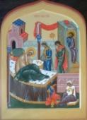 017. Рождество Богородицы. Современная икона.