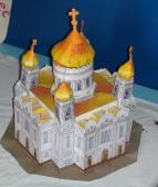 Храм (совместное творчество учащихся младшей группы и преподавателя Архаровой К. И.)