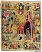 024. Благовещение с клеймами жития Богоматери. XVI век. Сольвычегодский музей