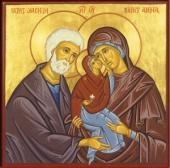 041. Богоотец Иоаким и Анна и младенец Мария
