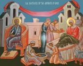 043. Современная икона Рождества Пресвятой Богородицы