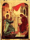 042. Благовещение. Андрей Рублев. 1408